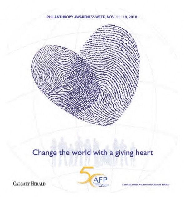 Graphic for Philanthropy Awareness Week, international award winner