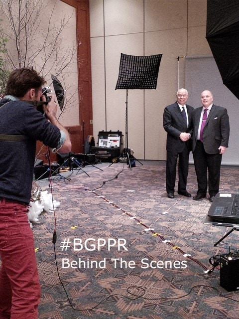 Gen. Colin Powell BTS