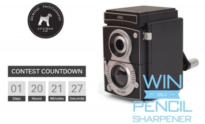 Designer Camera Pencil Sharpener