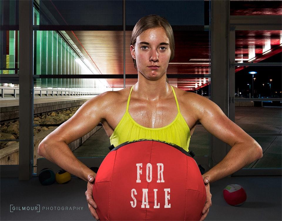 PR Photography of Kim McRae, olympic luge team