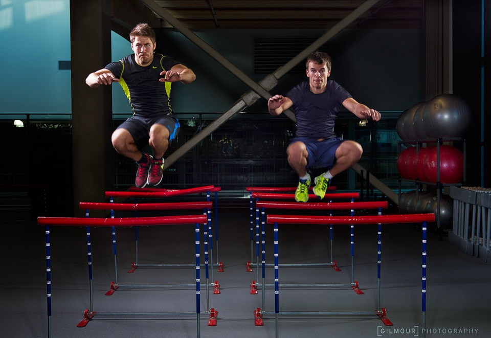 PR Photography of Justin Snith and Tristan Walker, olympic doubles luge team