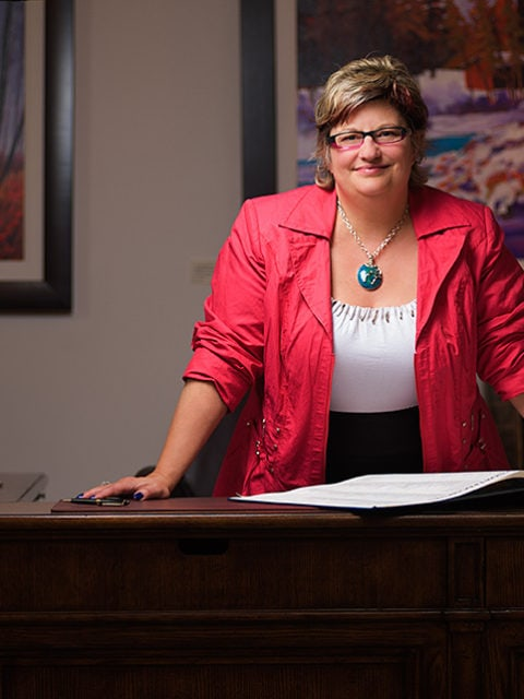 Executive portraits in Calgary of Sylvia Groves