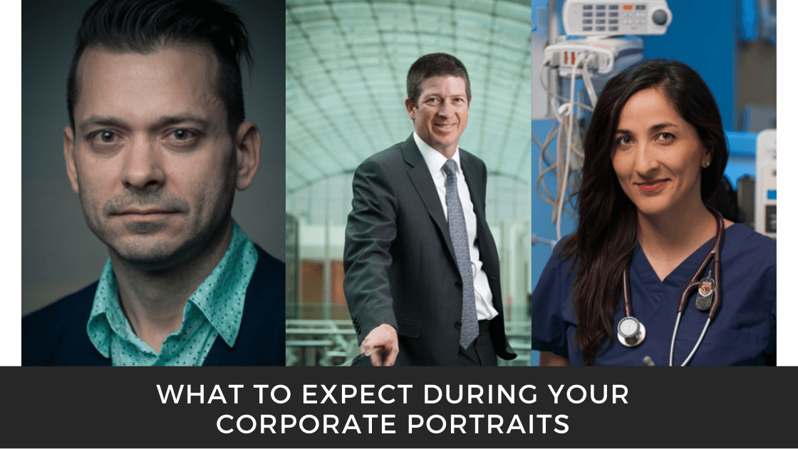 Photo collage of corporate portraits by corporate photographer Brett Gilmour