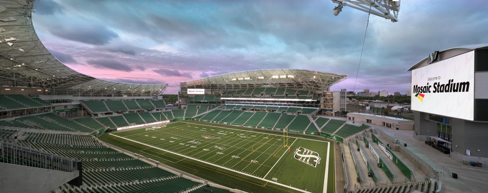 photographing mosaic stadium