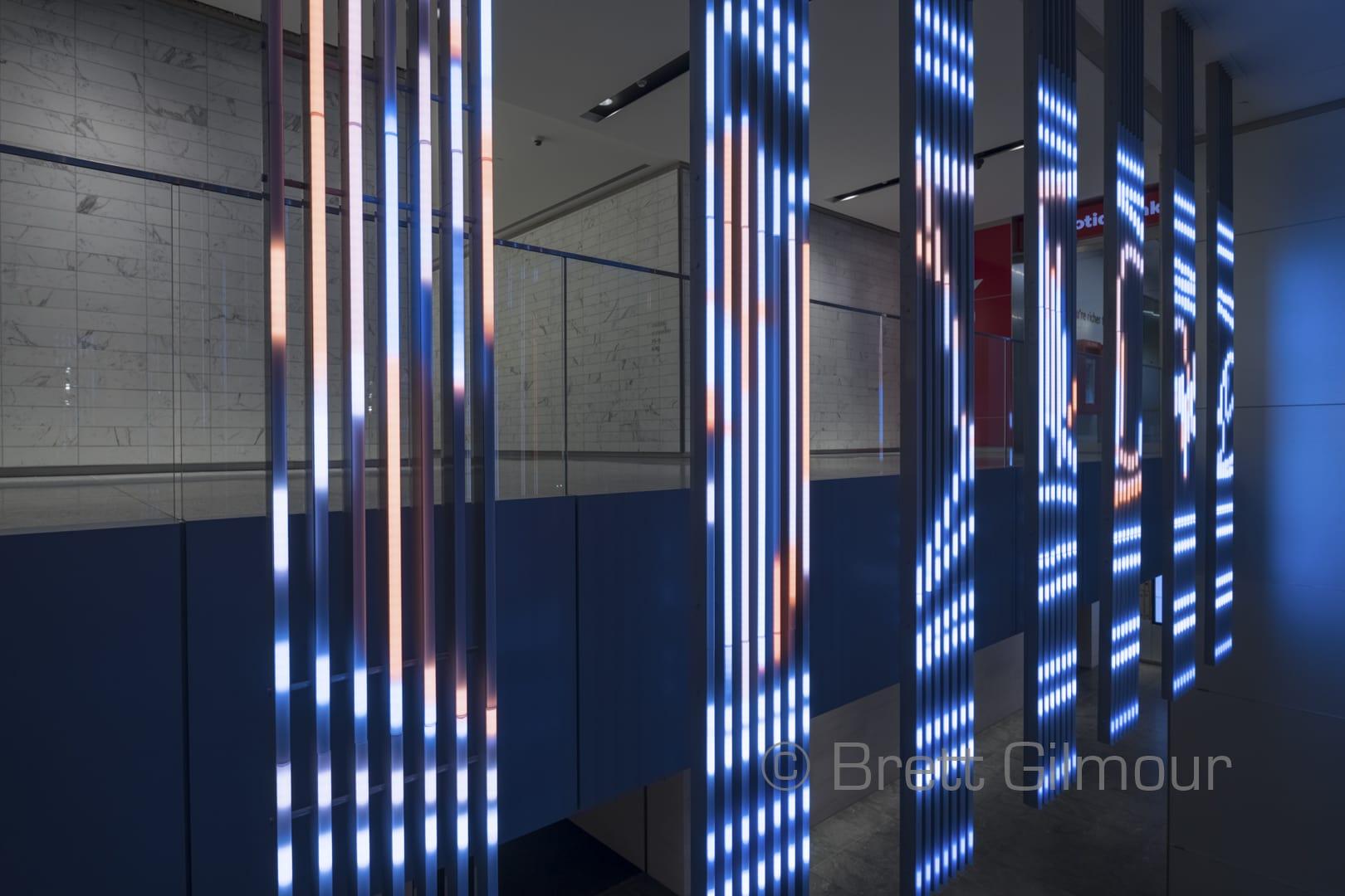 Herald / Harbinger art installation Brookfield Place Brett Gilmour Photography