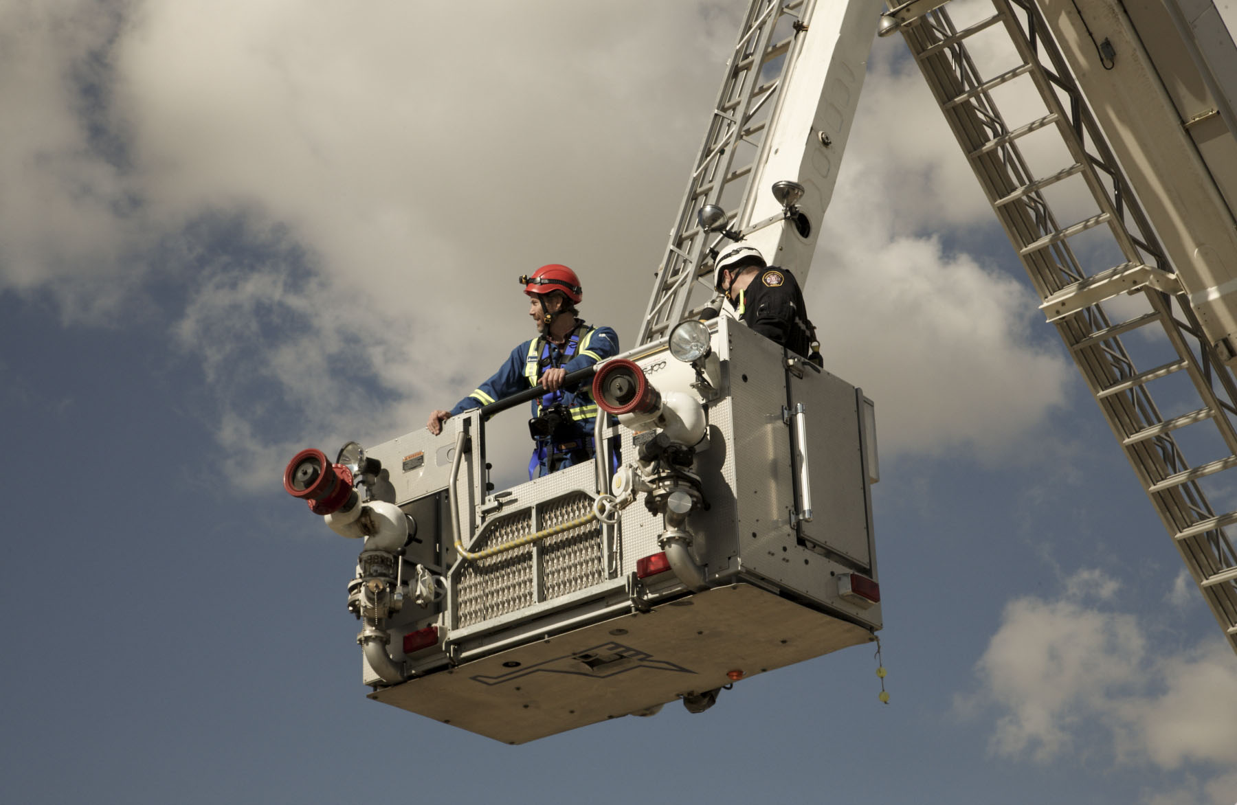 Photo of industrial photographer making aerial photos in Calgary
