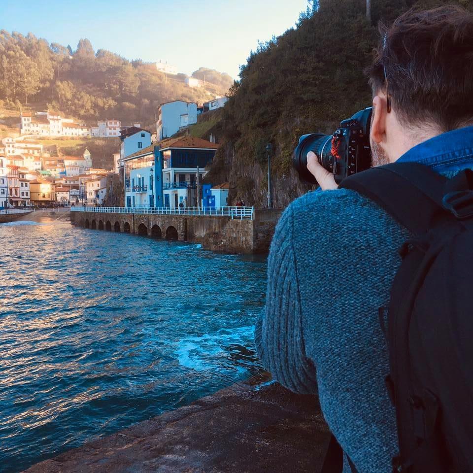 Photo of commercial photographer Brett Gilmour in Cudillero, Spain.