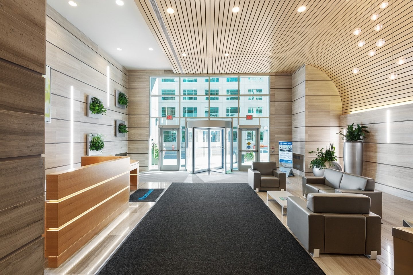 Real estate photography of the interior of a commercial building in Calgary