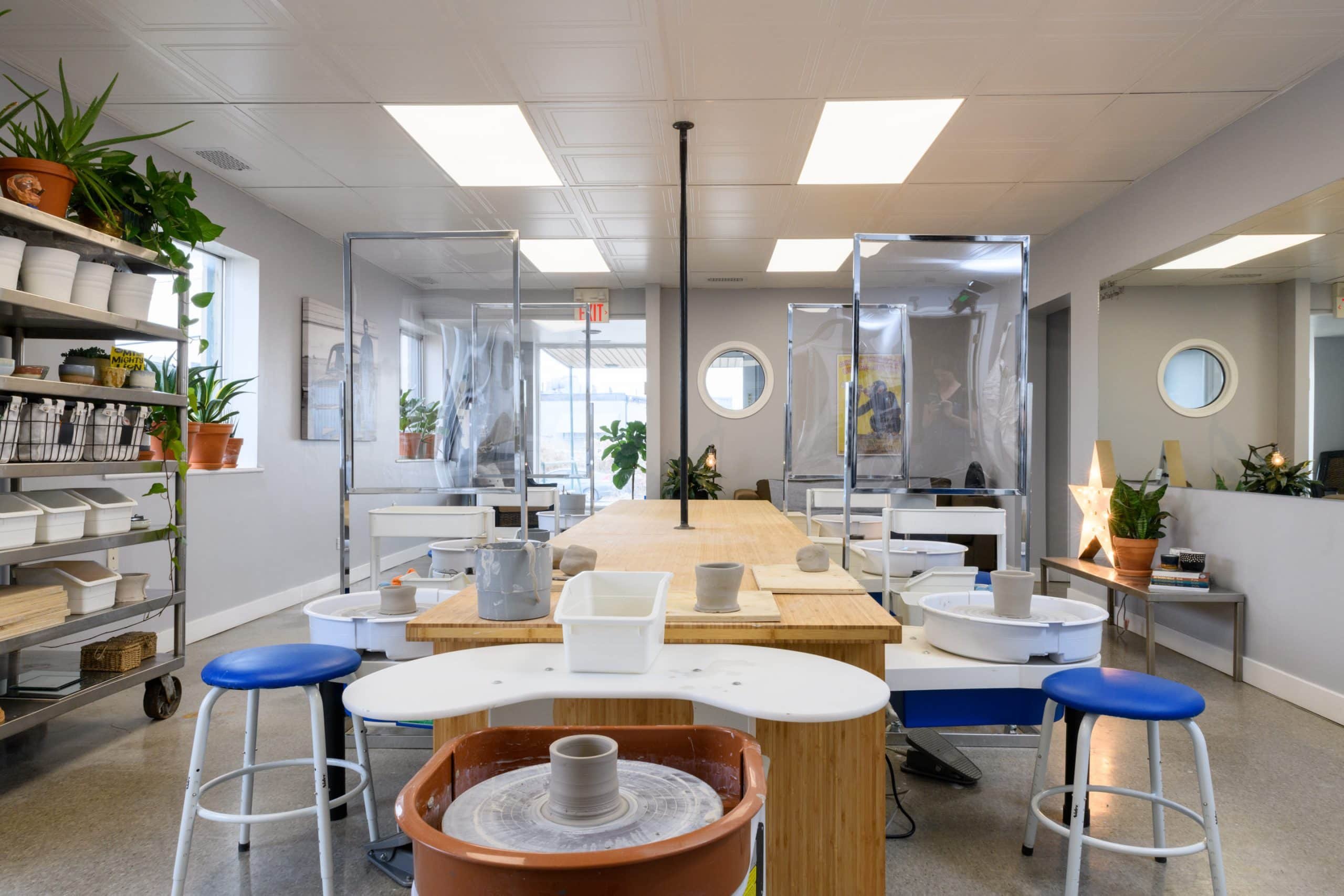 Interior photo for a start-up launch by Mud Urban Potters in Calgary, Alberta.
