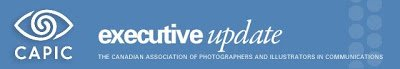 graphic for the Canadian Association of Professional Image Creators executive update