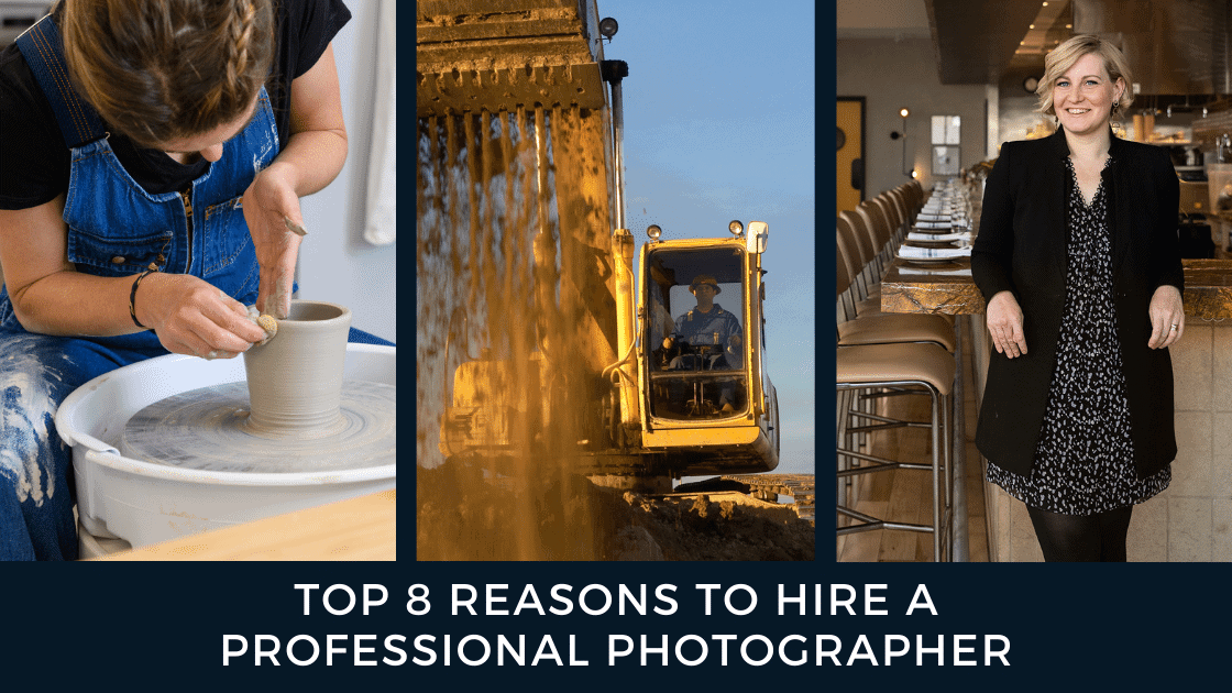 Top 8 Reasons To Hire a Pro Photographer Graphic